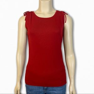 NWT Red Sleeveless Top by Kathie Lee Collection